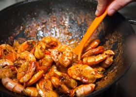 fresh fried shrimps