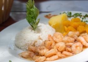 Canchanchara Shrimps served in Cuban Paladar